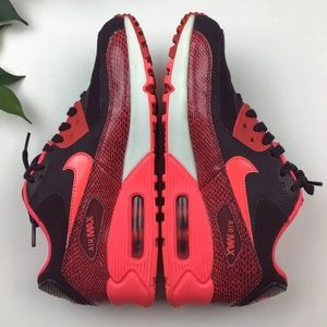 Nike Air Max 90 Burgundy Hyper Punch Sneakers